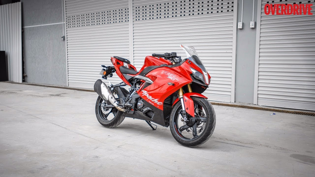 tvs apache rr 310 walkaround overdrive youtube