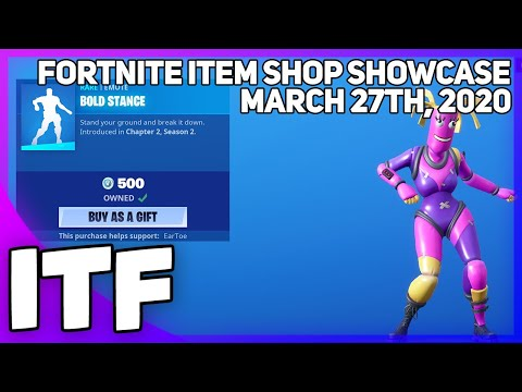 Fortnite Item Shop *NEW* BOLD STANCE EMOTE + WRAP! [March 27th, 2020] (Fortnite Battle Royale)