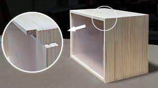 DIY acrylic door storage box 아…