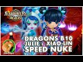 SUMMONERS WAR : Dragons B10 - Under 90 seconds - Speed Team w/Julie & Xiao Lin