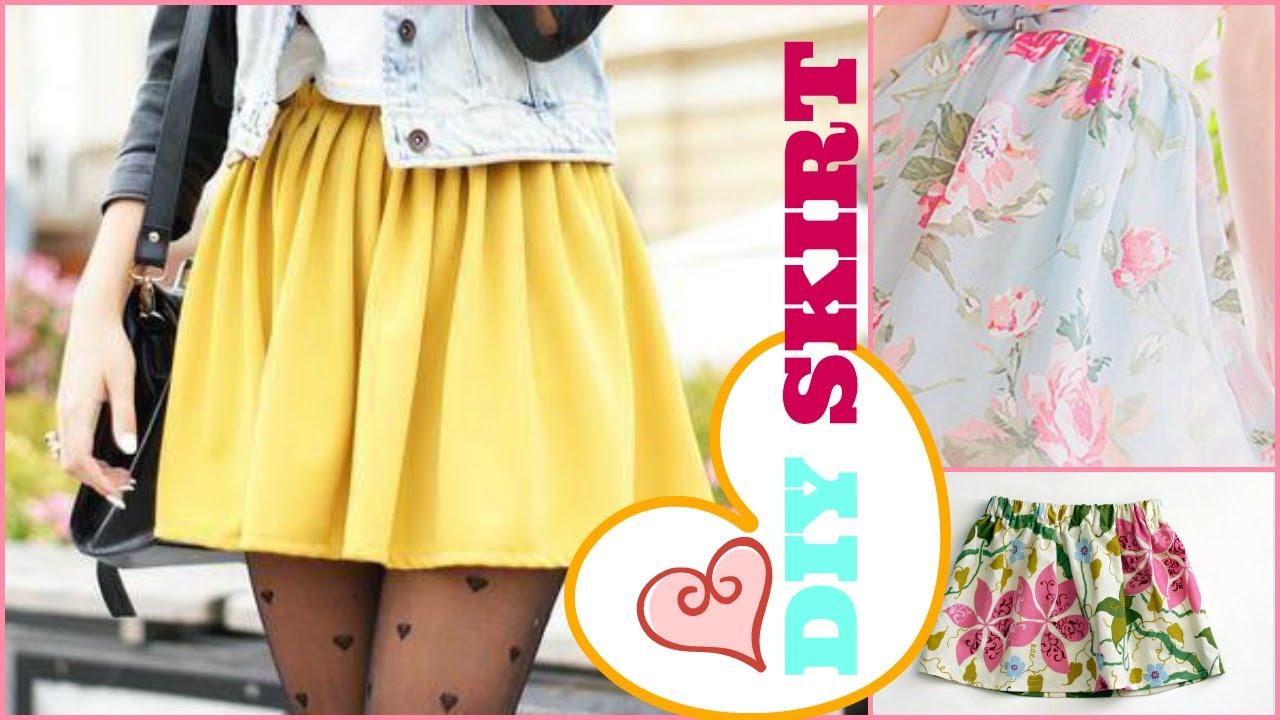 63c5a92acd92 DIY Super Easy Skirt - 2 Minute Tutorial - YouTube