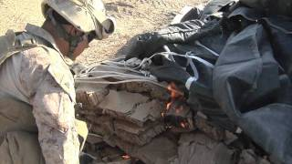 Marines on Air Drop Recovery Mission in Afghanistan