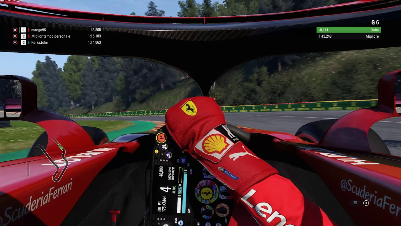 f1 2018 spa hotlap 1 42 876 cockpit view. Black Bedroom Furniture Sets. Home Design Ideas