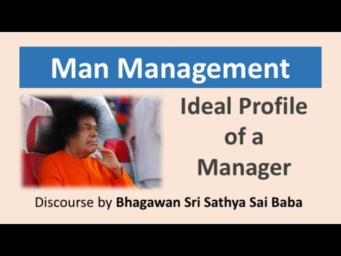 Man Management - Ideal Profile of a Manager