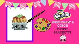 Twirly Spaghetti Shopkins Season 6 Speed Draw and Color Fan Request