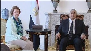 Эштон прилетела в Каир призвать Египет к демократии(Глава европейской дипломатии Кэтрин Эштон приехала с...