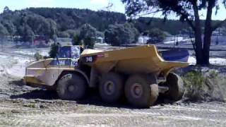 Cat 740 dumper bogged