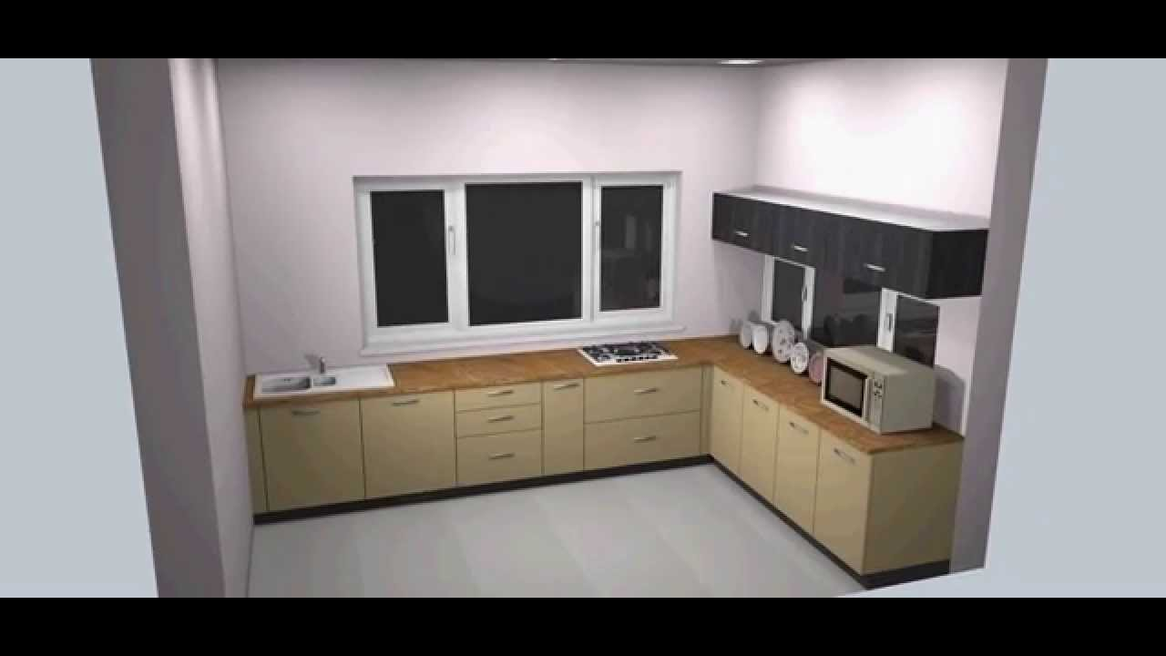 l shape modular kitchen in hyderabad @ regalias - youtube