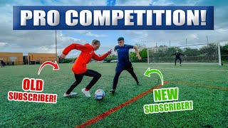 OLD SUBSCRIBER vs NEW SUBSCRIBER - EPIC FOOTBALL BATTLE!!