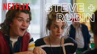 Steve and Robin's Best Moments in Stranger Things | Netflix