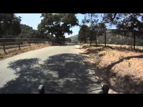 Bicycle ride on Tepusquet Road near Santa Maria, California