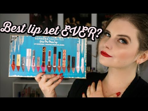 Sephora Favorites   GIVE ME MORE LIP 2017   review with SWATCHES