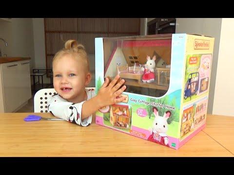 Домик для зайки Сильвания Фемели распаковка The House Bunny Toy With Accessories