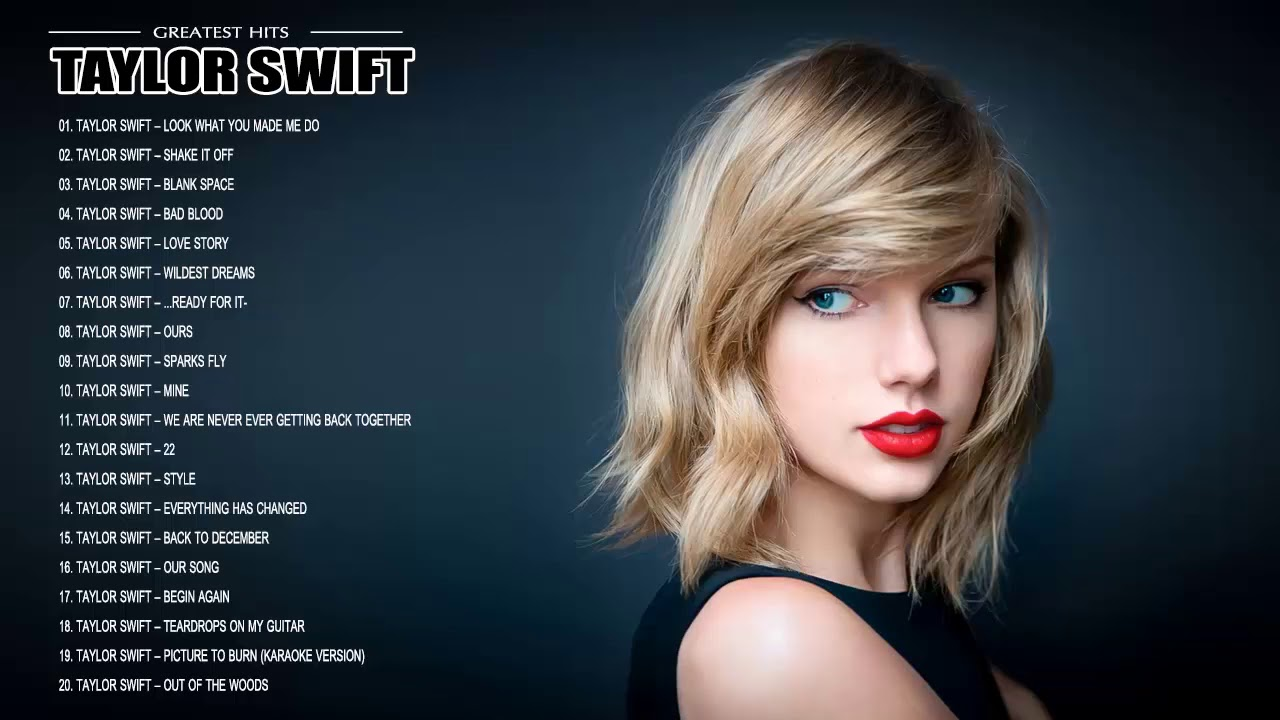Taylor Swift Greatest Hits Best Songs Of Taylor Swift Youtube