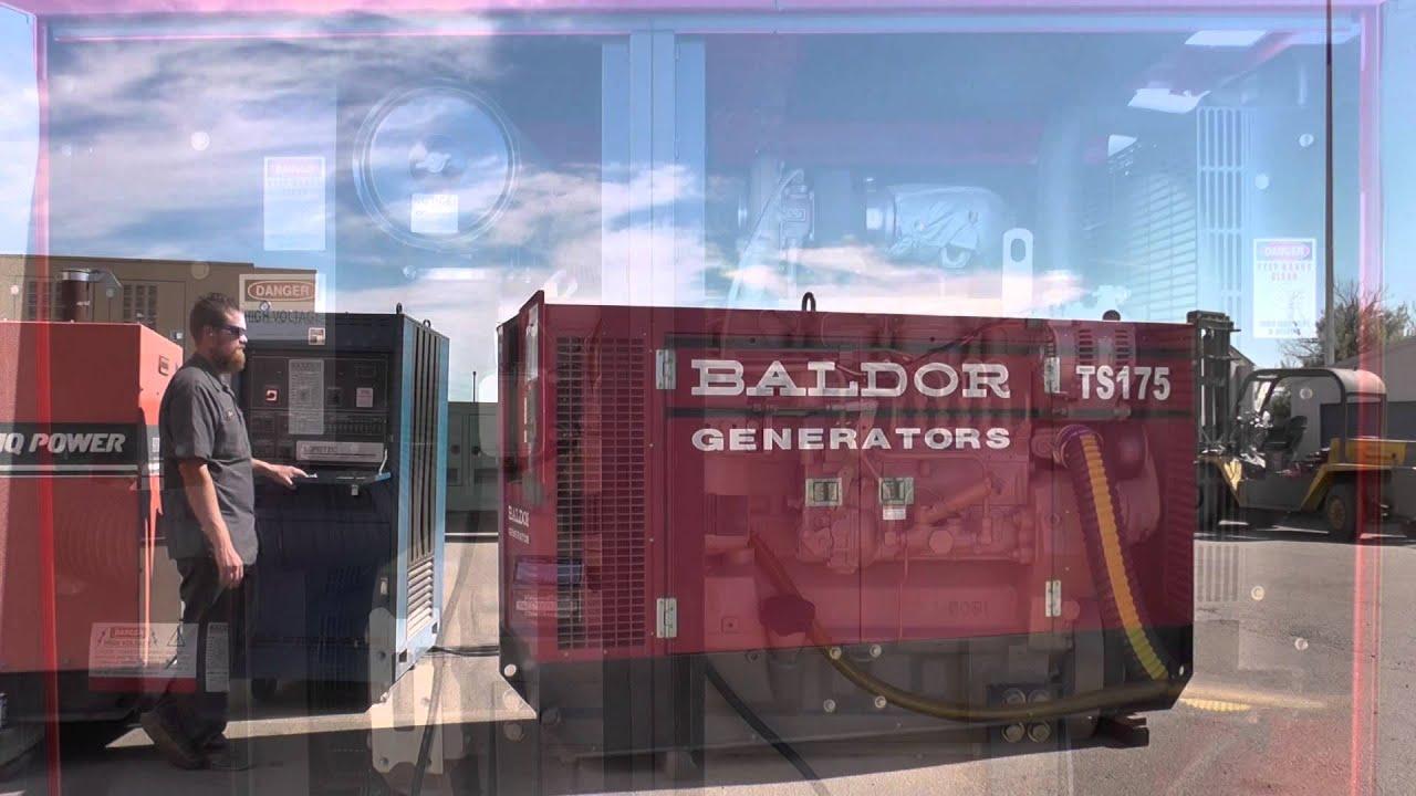 Baldor 140 kW Diesel Generator Set Used Standby 6081TF001