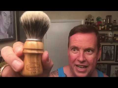 Semogue Owners Club Badger Brush-Cherry Wood. First use, with Razorock Tobacco 2 & xXx Aftershave.
