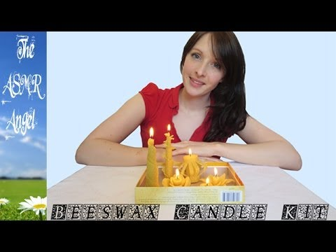 ASMR - Making Beeswax Candles with Soft Speaking (Binaural - 3D Sound)