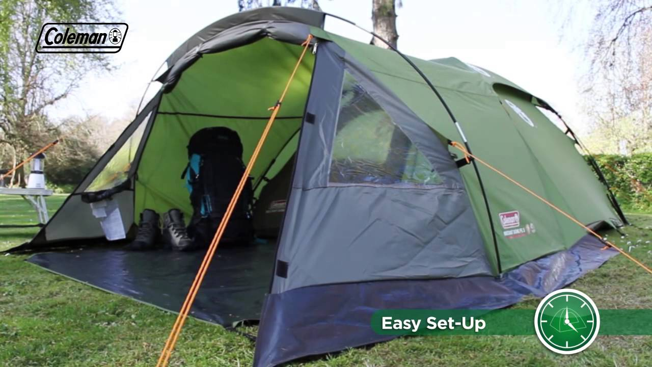 & Coleman® Instant Dome 3 with Front Extension - YouTube