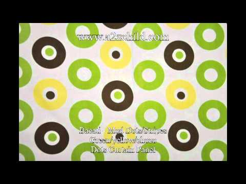 Bacati Mod Dots Stripes Green Yellow Choco - A2zchild.com 1.avi