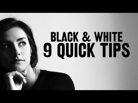 9 quick tips for BETTER BLACK & WHITE photos