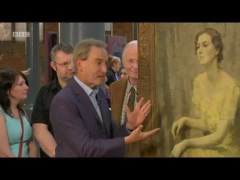 Antiques Roadshow Yellow Girl Painting by Matilda Mulvey 12/10/14