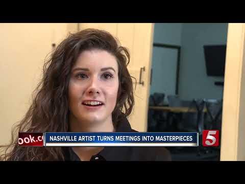 Nashville Sketch Artist Creates Visual Notes, Turns MeetingsInto Works Of Art
