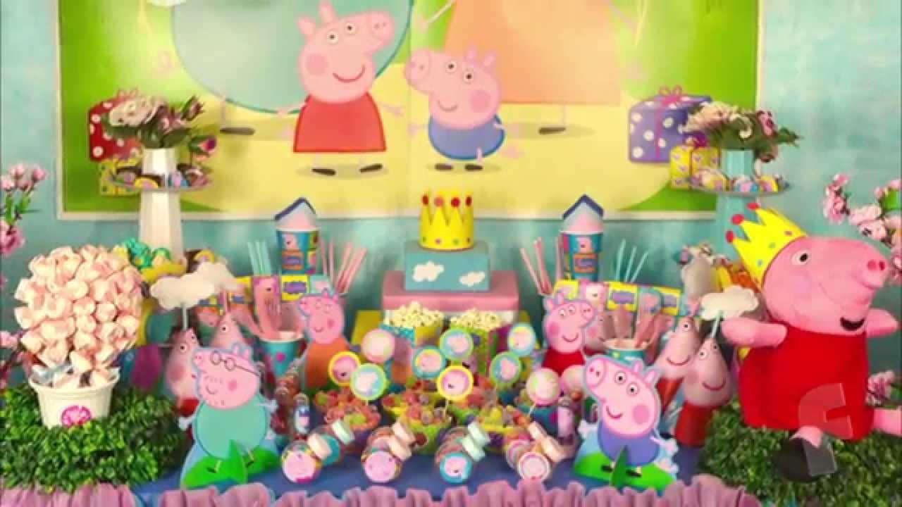 Dicas para montar mesa peppa pig decora o festa peppa for Mesa de peppa pig