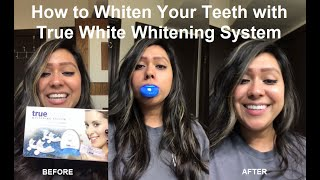 How to Whiten Your Teeth with True White Whitening System   Melissa Athalia