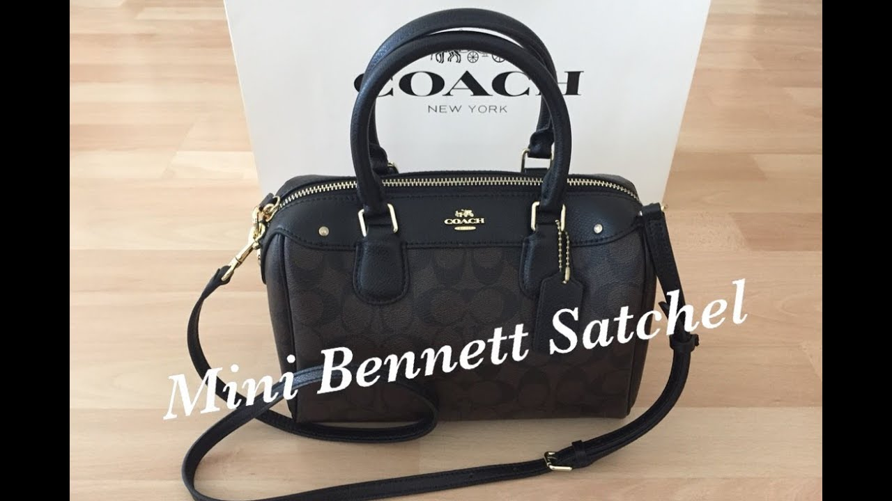COACH Signature C Mini Bennett Satchel Bag  98c34534b9000