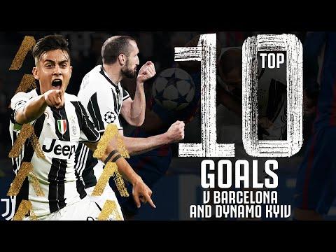 ⚽ Top 10 Juventus Goals V Barcelona & Dynamo Kyiv! | Baggio, Dybala, Chiellini, Del Piero | Juventus