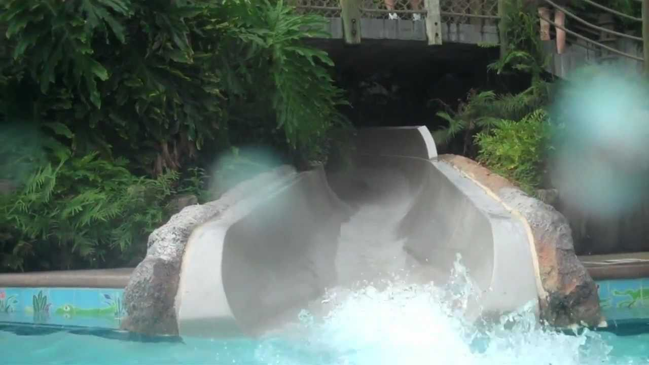 Port Orleans Riverside Water Slide Youtube