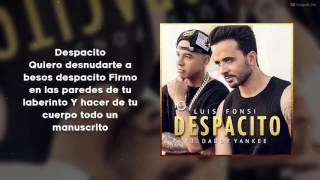 Despacito Con Letra  Luis Fonsi ft  Daddy Yankee HD (Download mp3 320kbps)audio High Definition