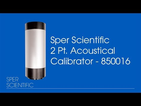 Sper Scientific 2 Pt. Acoustical Calibrator - Sound Meter Calibration