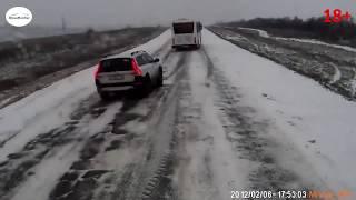 Скользко или как НЕ надо делать на дороге зимой