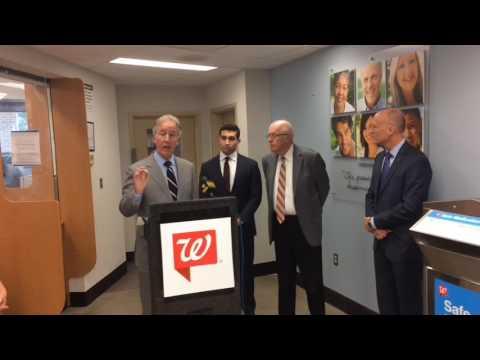 Springfield U.S Rep. Richard Neal, Walgreens, talk drug giveback