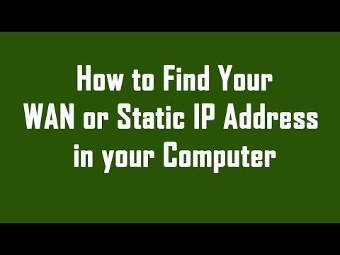 How to Find My Static IP Address