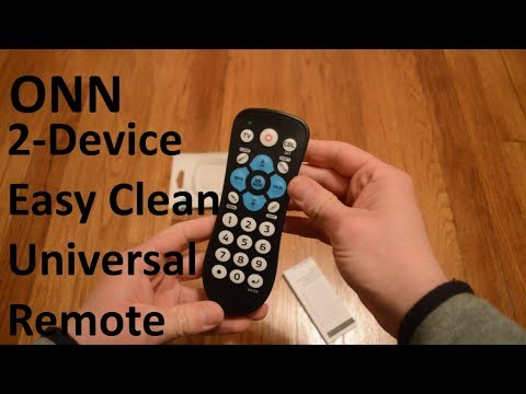 Unboxing ONN 2-Device Easy Clean Universal Remote