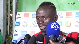 Sadio Mané au lendemain de la victoire sur les Tanzaniens