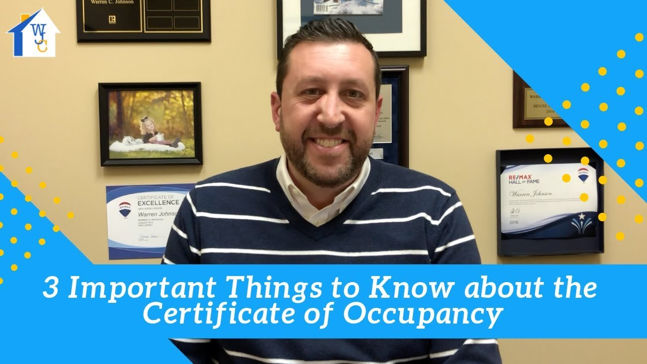 3 Important Things to Know about Certificate of Occupancy In New Jersey