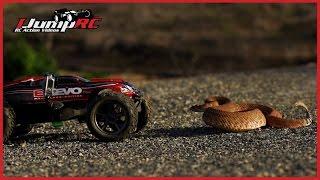 traxxas e revo rattlesnake encounter