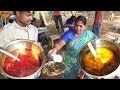 Hyderabad Roadside Non Veg Meals @ 60 rs Only | Veg Rice @ 40 rs | Street Food Heaven in Hyderabad