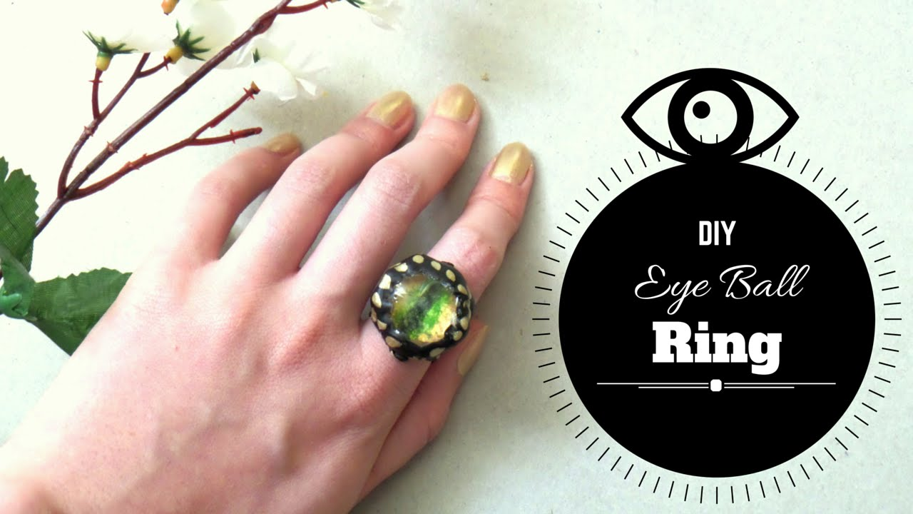 How To Make An Eyeball Ring From Scratch  Diy Dragon Eye Ring  By Fluffy  Hedgehog