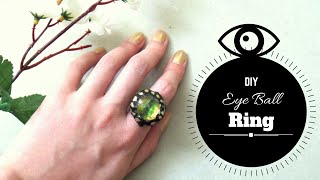 How to Make an Eyeball Ring from Scratch | DIY Dragon Eye Ring | by Fluffy Hedgehog