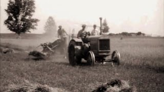 1920's Old Farm & Tractor Scenes Clarks Lake Michigan
