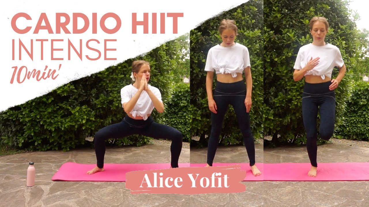 Séance de Yofit cardio HIIT brûle-graisse intense 10 minutes !