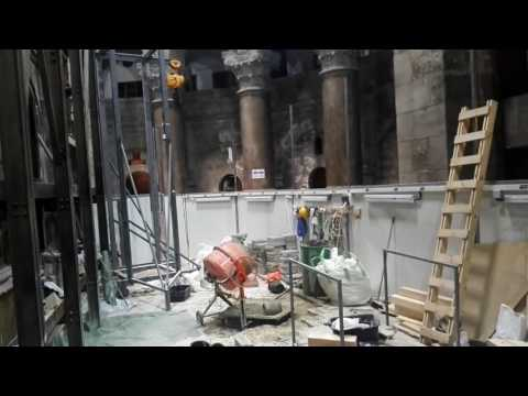 Christ's Tomb Undergoes Renovation 200 Years in the Making - Church of the Holy Sepulchre Jerusalem