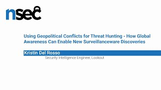 NorthSec 2019 – Kristin Del Rosso – Using Geopolitical Conflicts for Threat Hunting