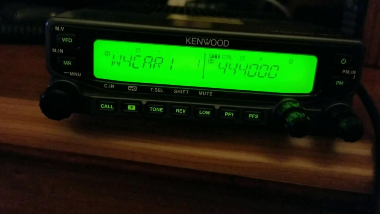 Kenwood TM-V71A programming