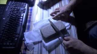 Cutting Homemade Cold Process Soap Bars