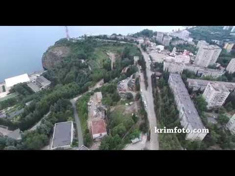 Крым Партенит ЮБК панорама города с высоты птичьего полета